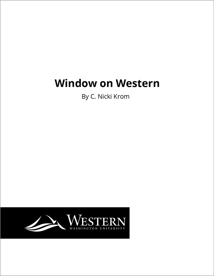 C. Nicki Krom - Writing Sample - Western Washington University - Window on Western
